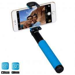Momax Selfie Hero - Uniwersalny kij do selfie + pilot Bluetooth (100 cm) (Black/Blue)
