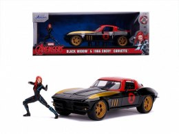AUTKO MARVEL BLACK WIDOW 1966 CHEVY 1:24